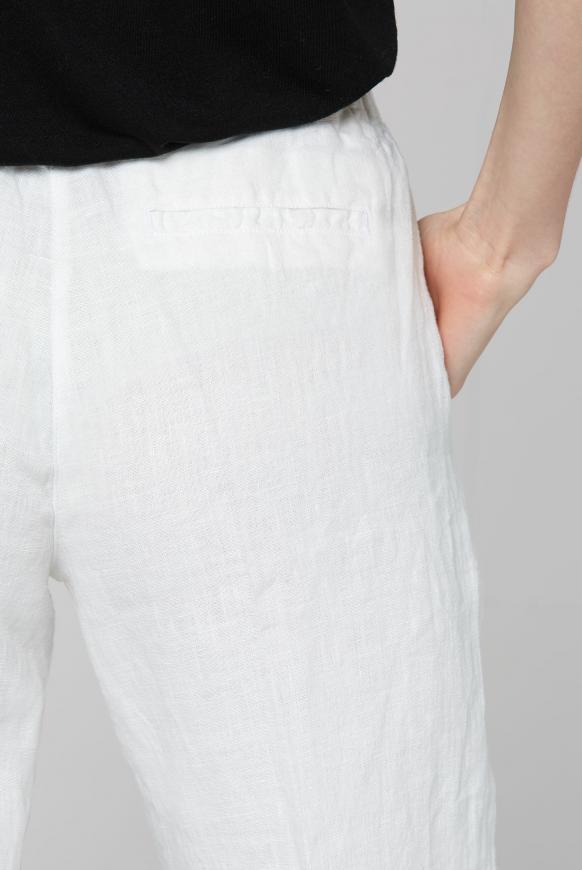Culotte aus Leinen mit Bügelfalte