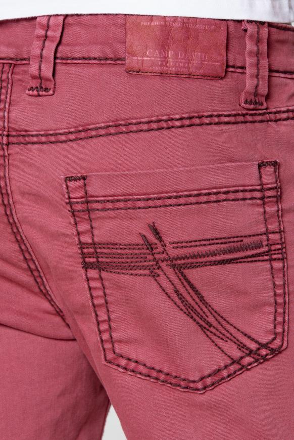 DA:VD Skater Jeansshorts mit breiten Nähten