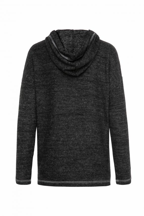 Gebürsteter Pullover mit Kapuze und Druck