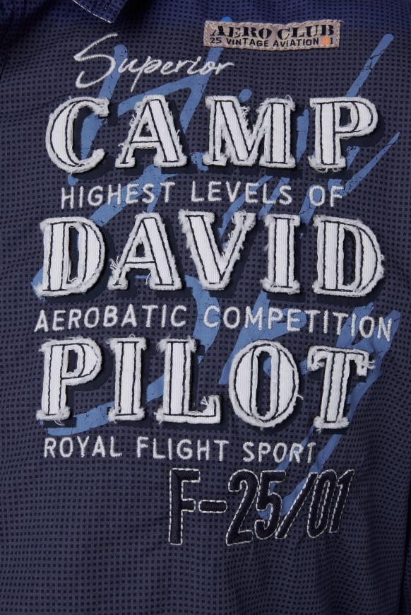 Hemd mit filigranem Musterprint