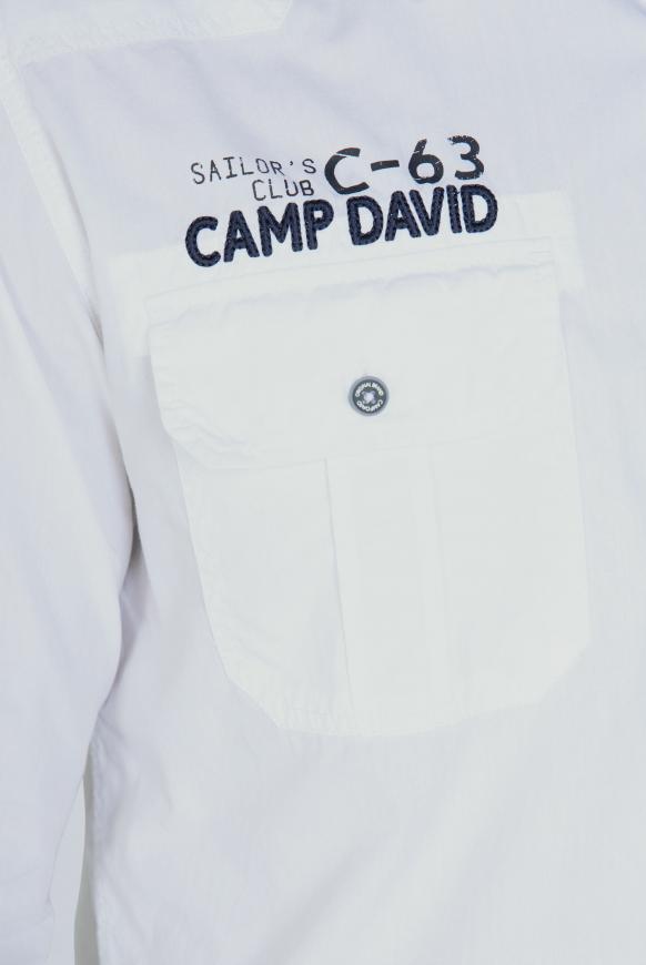 Hemd mit Taschen, Artworks und Schulterriegeln