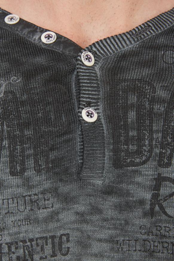 Henley-Pullover mit Artwork