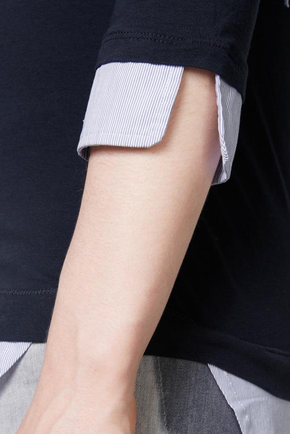 Kapuzenshirt mit Blusen-Layering