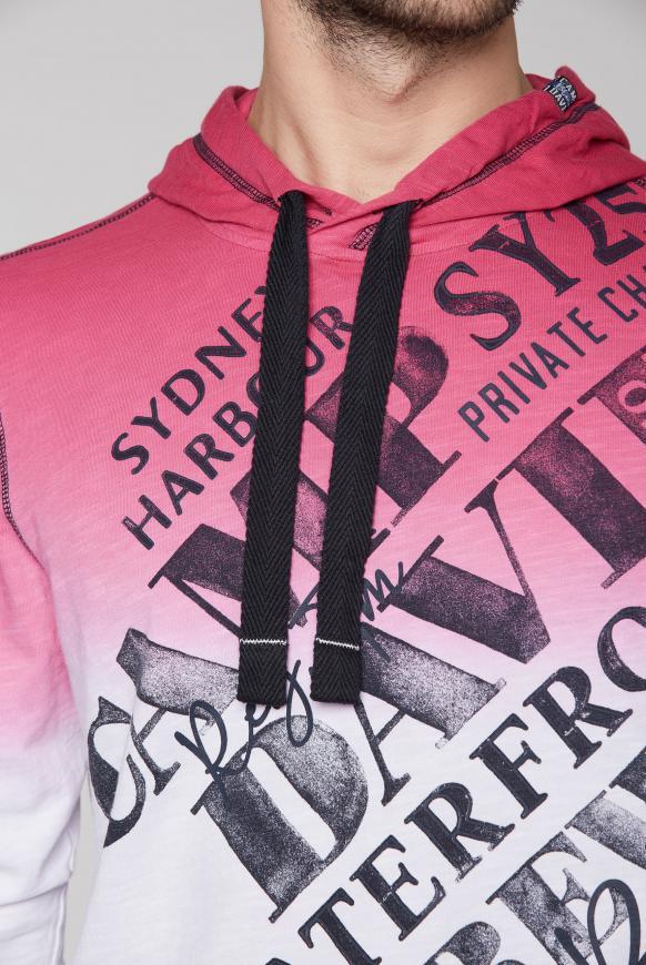 Kapuzenshirt mit Farbverlauf und Print