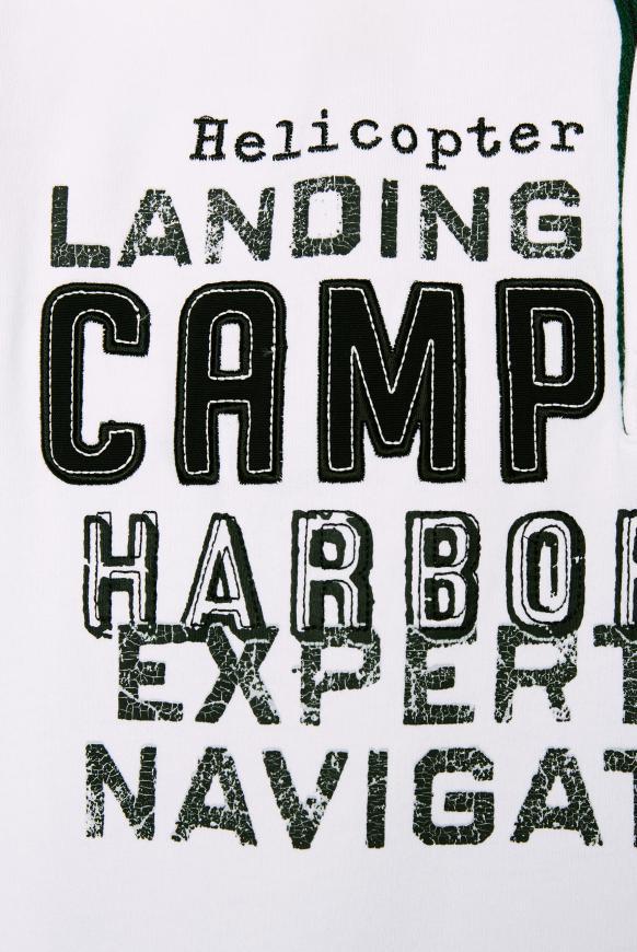 Langärmliges Poloshirt mit Logo-Applikationen