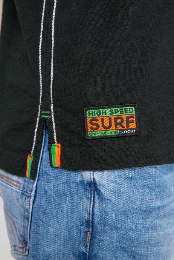 Poloshirt aus Flammgarn mit Neon-Details