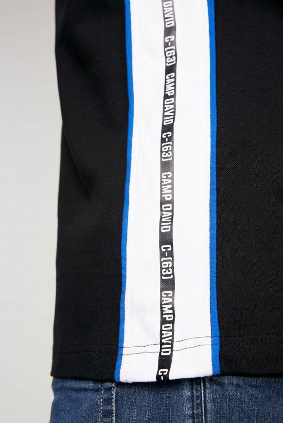Poloshirt aus Pikee mit Kontraststreifen