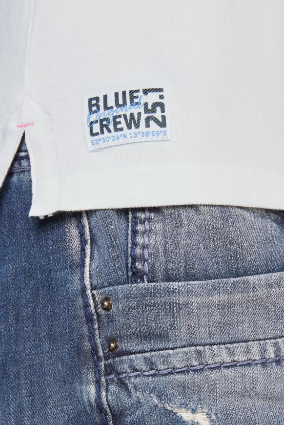 Poloshirt aus Pikee mit Logo-Stickereien