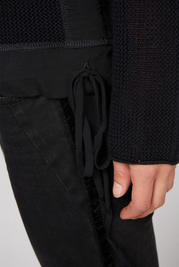 Pullover mit Meshstruktur und Foliendruck