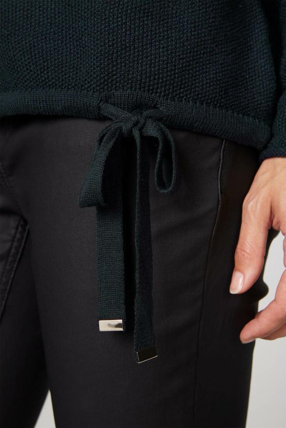 Pullover mit Perlmuster und Rollkragen