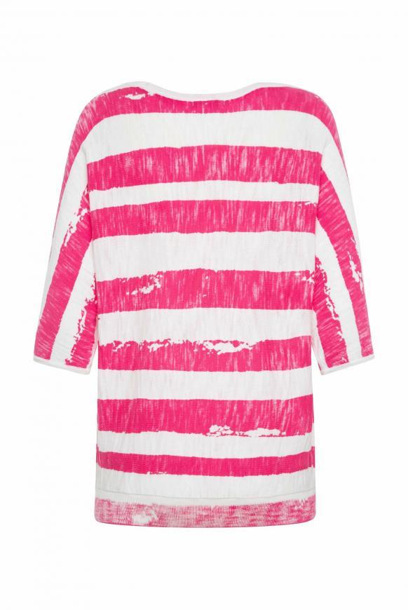 Pullover mit Streifen- und Glitter-Print
