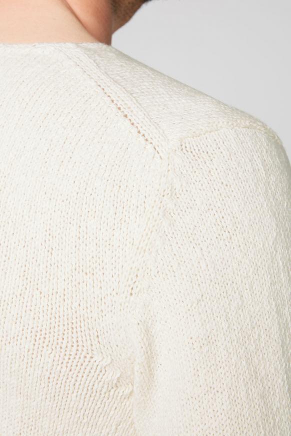 Rundhalspullover aus Baumwollstrick