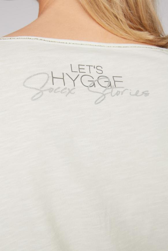 Shirt mit Tüll-Layering und Artwork