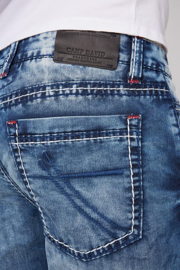 Skater Shorts RO:BI mit Used-Waschung