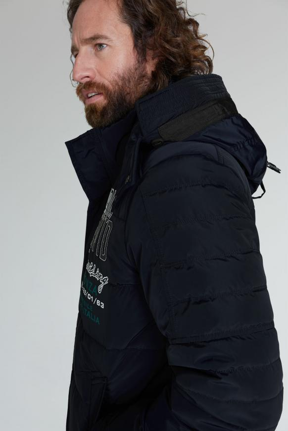 Steppjacke im Racing-Stil mit Artworks