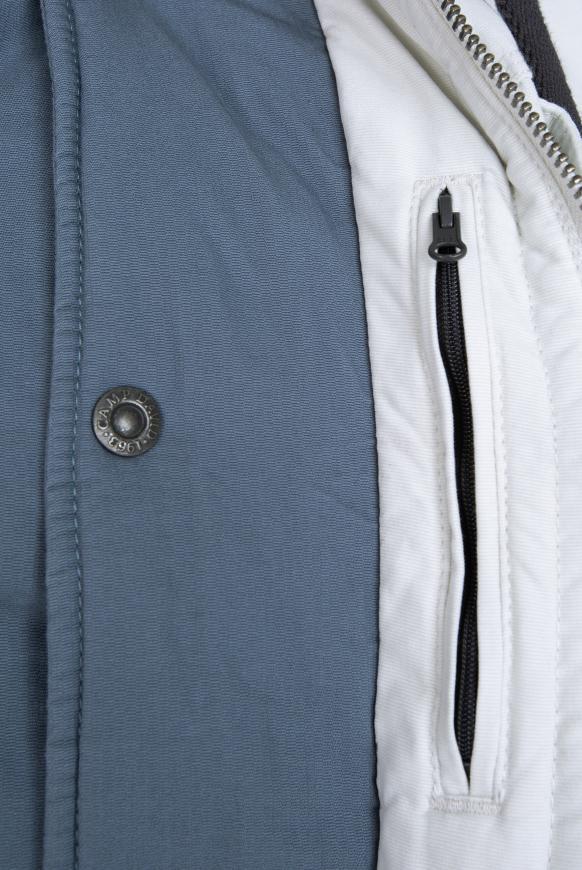 Stone Washed Jacke mit Kontrastkapuze