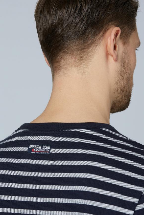 Streifenshirt mit Patches