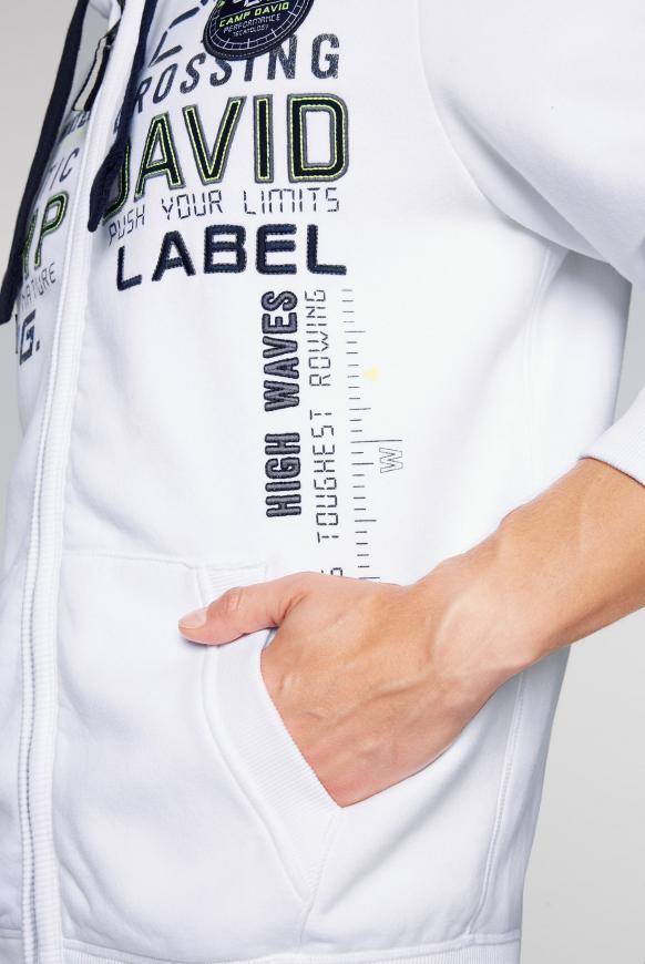 Sweatjacke mit Kapuze und Logo-Artwork