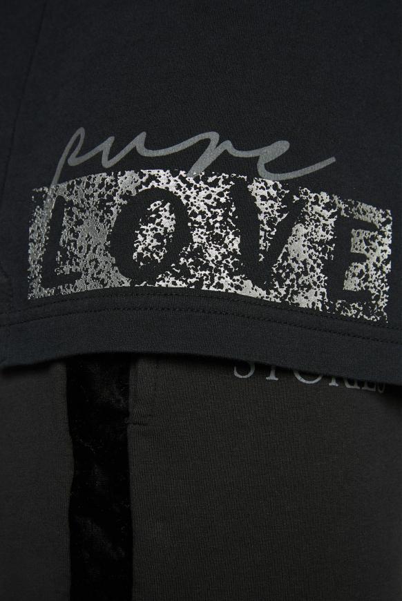 Sweatshirt mit hohem Kragen und Rücken-Artwork
