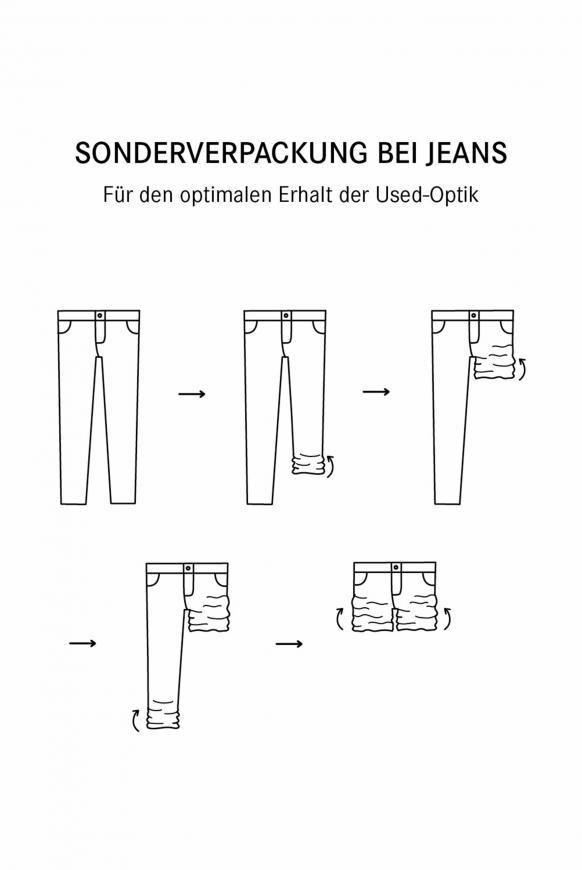 Vintage Jeans HE:DI mit Destroy-Effekten Slim Fit