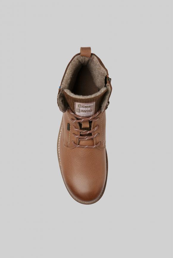 Worker-Boots aus Leder mit Logostick