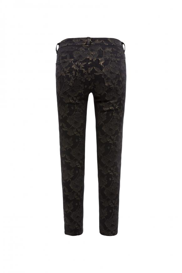 Denim MI:RA mit Gold Flower Print