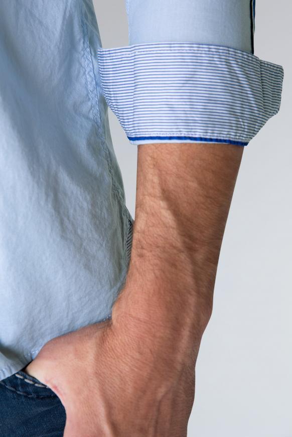 Hemd mit Streifen-Tapes am Ärmel