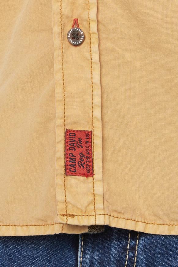 Hemd mit Used-Waschung und Rücken-Print