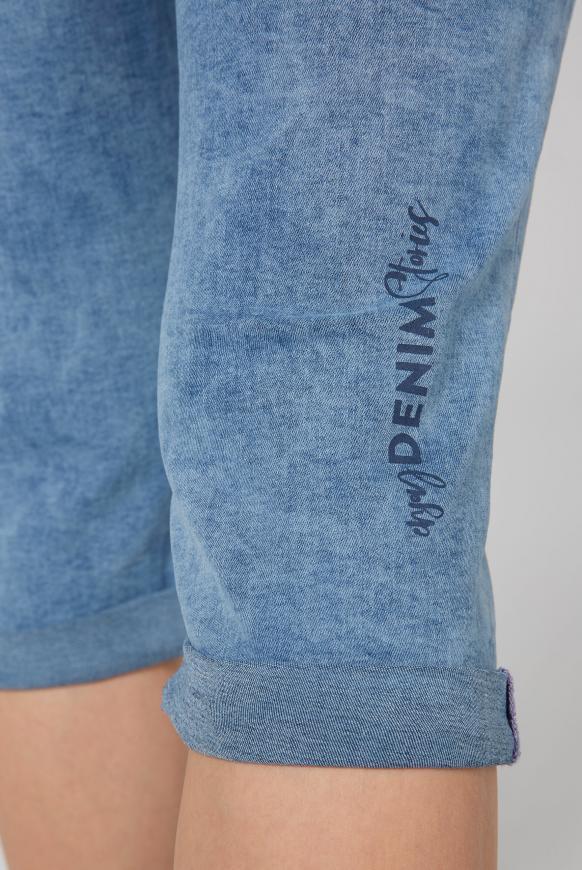Jeans Bermudas RO:MY mit Wording Print