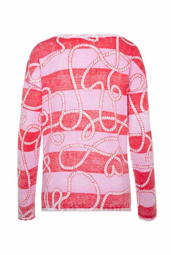 Pullover mit Inside Print und Acid-Waschung