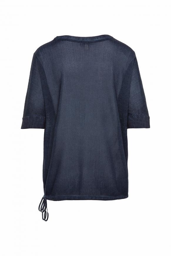Pullover mit Mesh-Struktur und Artwork