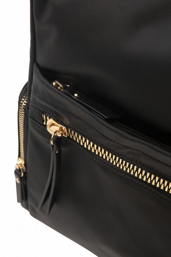 Rucksack aus Nylon mit dekorativen Zippern