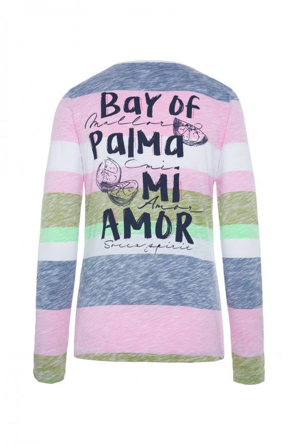 Shirt mit Streifen-Print und Rücken-Artwork