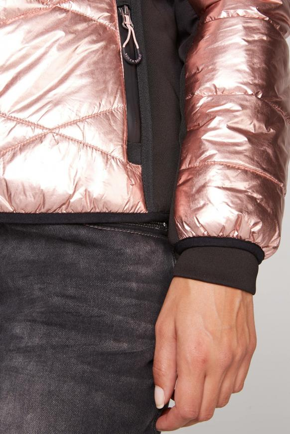 Steppjacke im Ski-Design mit Metallic Look