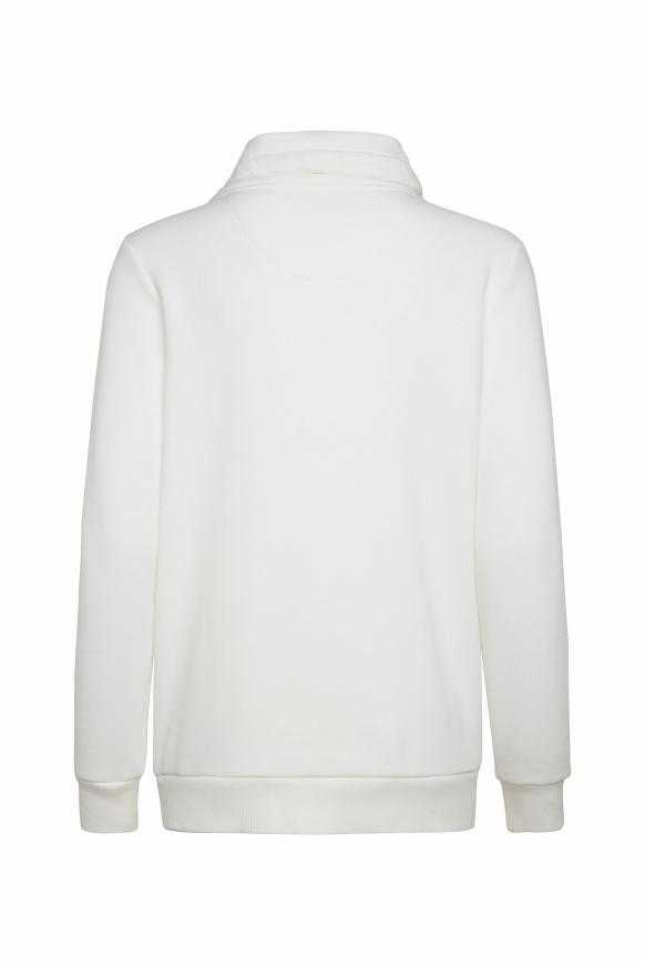 Sweatshirt mit hohem Kragen und Artwork