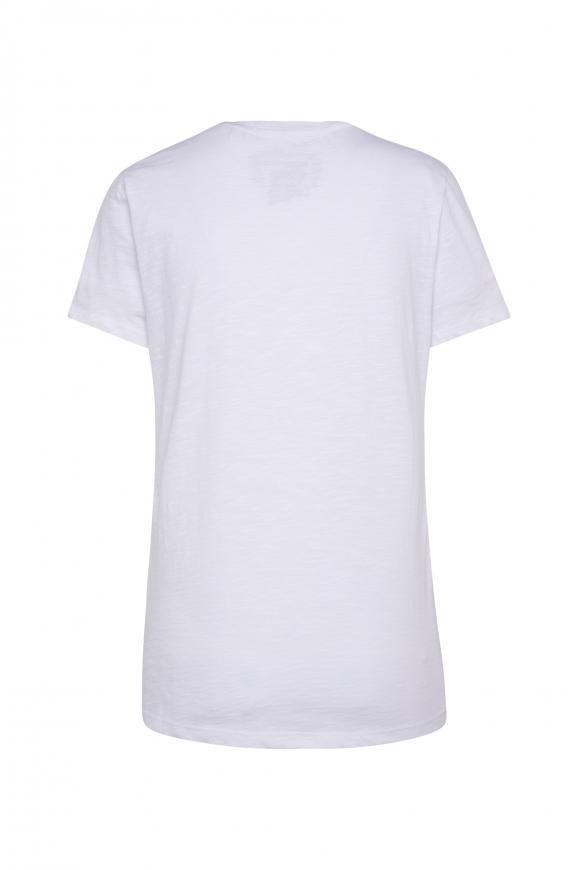 T-Shirt mit Pailletten-Schriftzug
