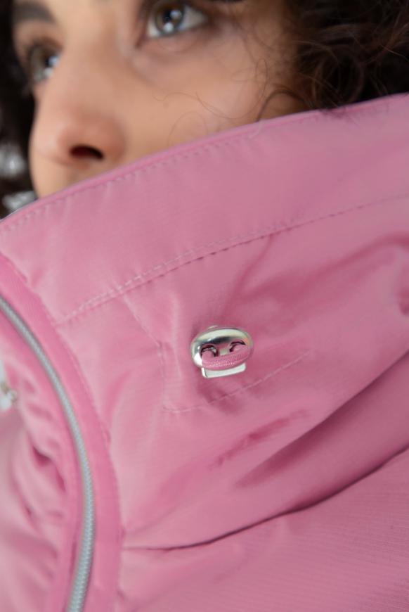 Winterjacke mit Struktur und Doppelkragen
