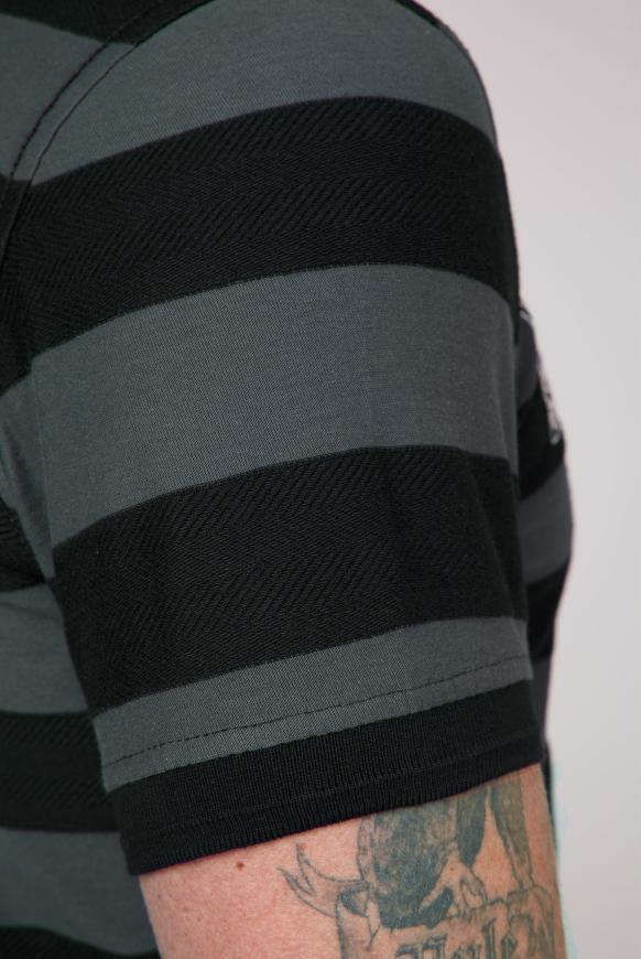Poloshirt mit Strukturstreifen und Artworks
