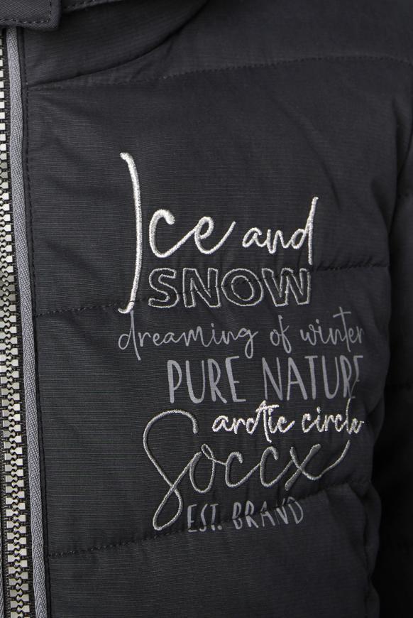 Winterjacke mit abtrennbarer Kapuze