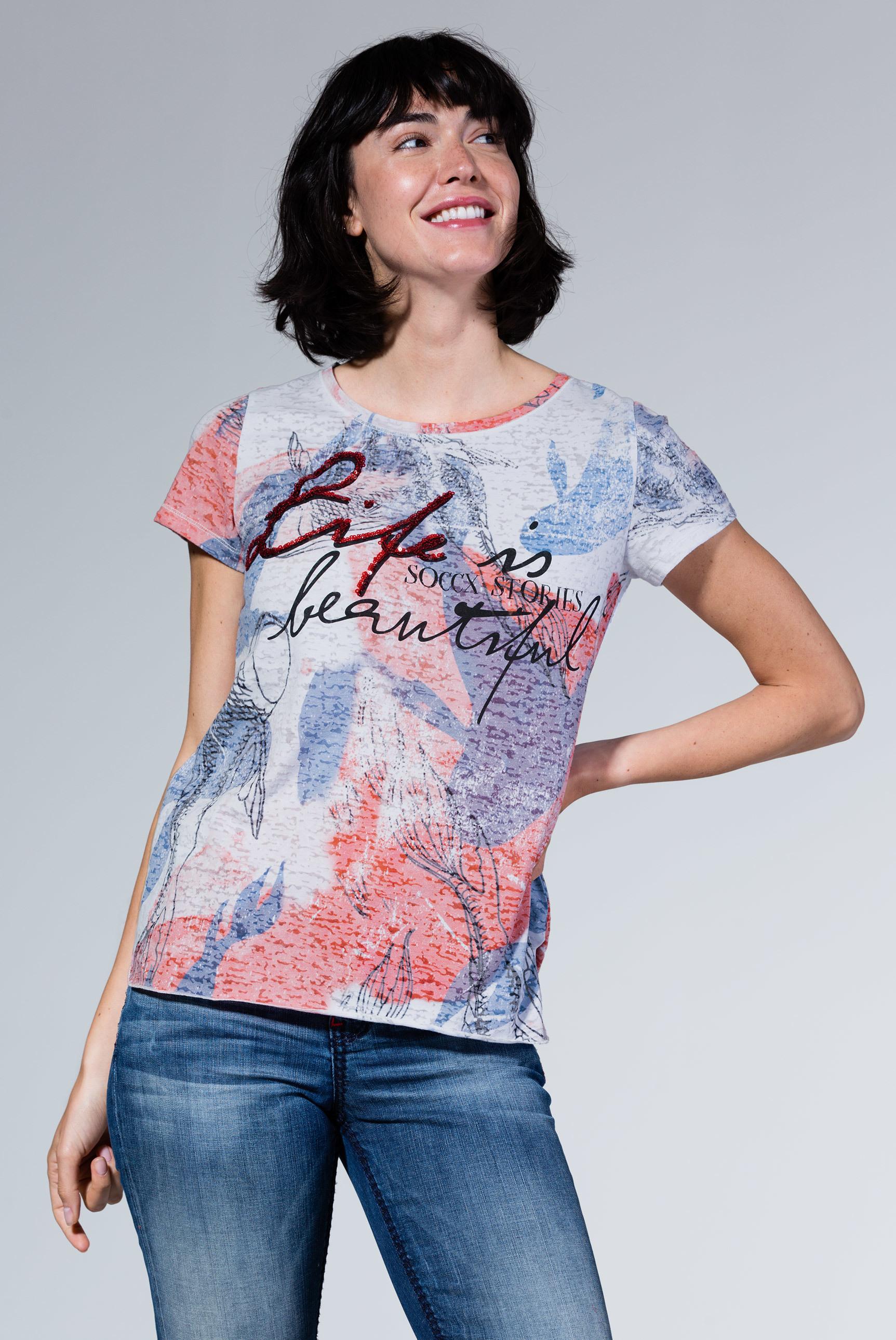 Ausbrenner-Shirt mit All Over Print