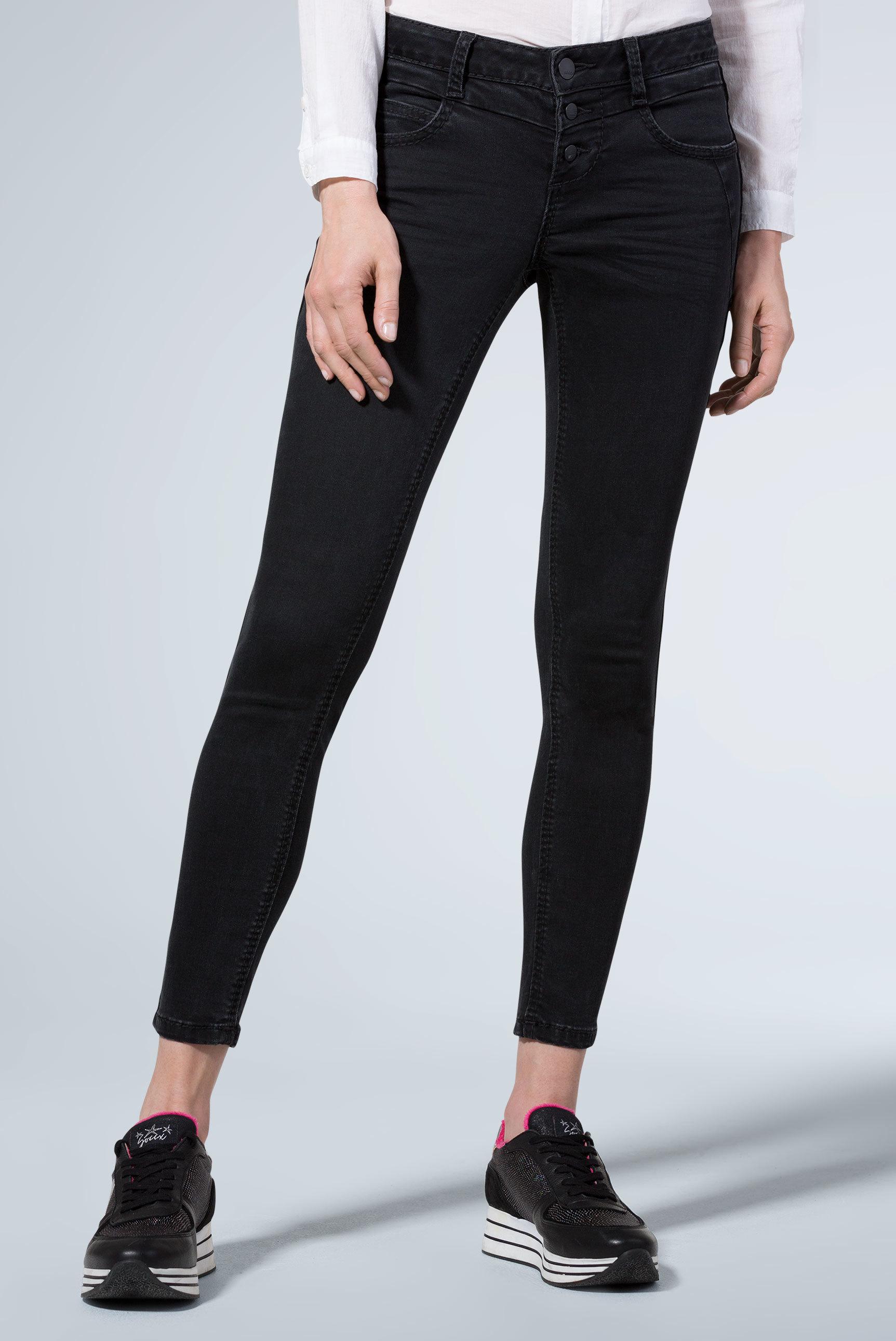 Jeans MI:RA mit Knopfleiste und Seitentape