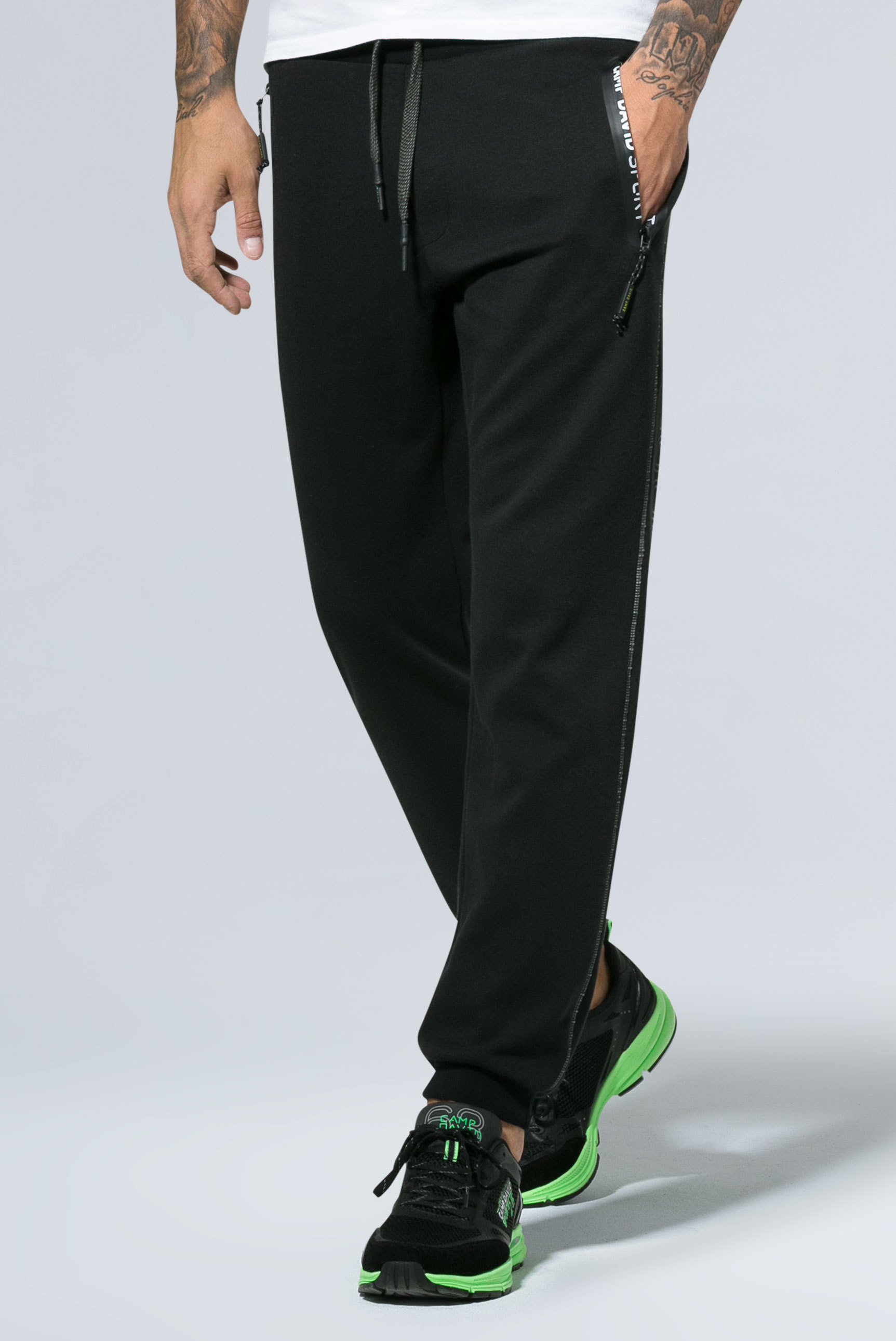 Jogging Pants mit getapten Zippern