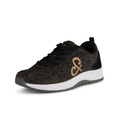 Knit Upper Sneaker mit Metallic-Optik