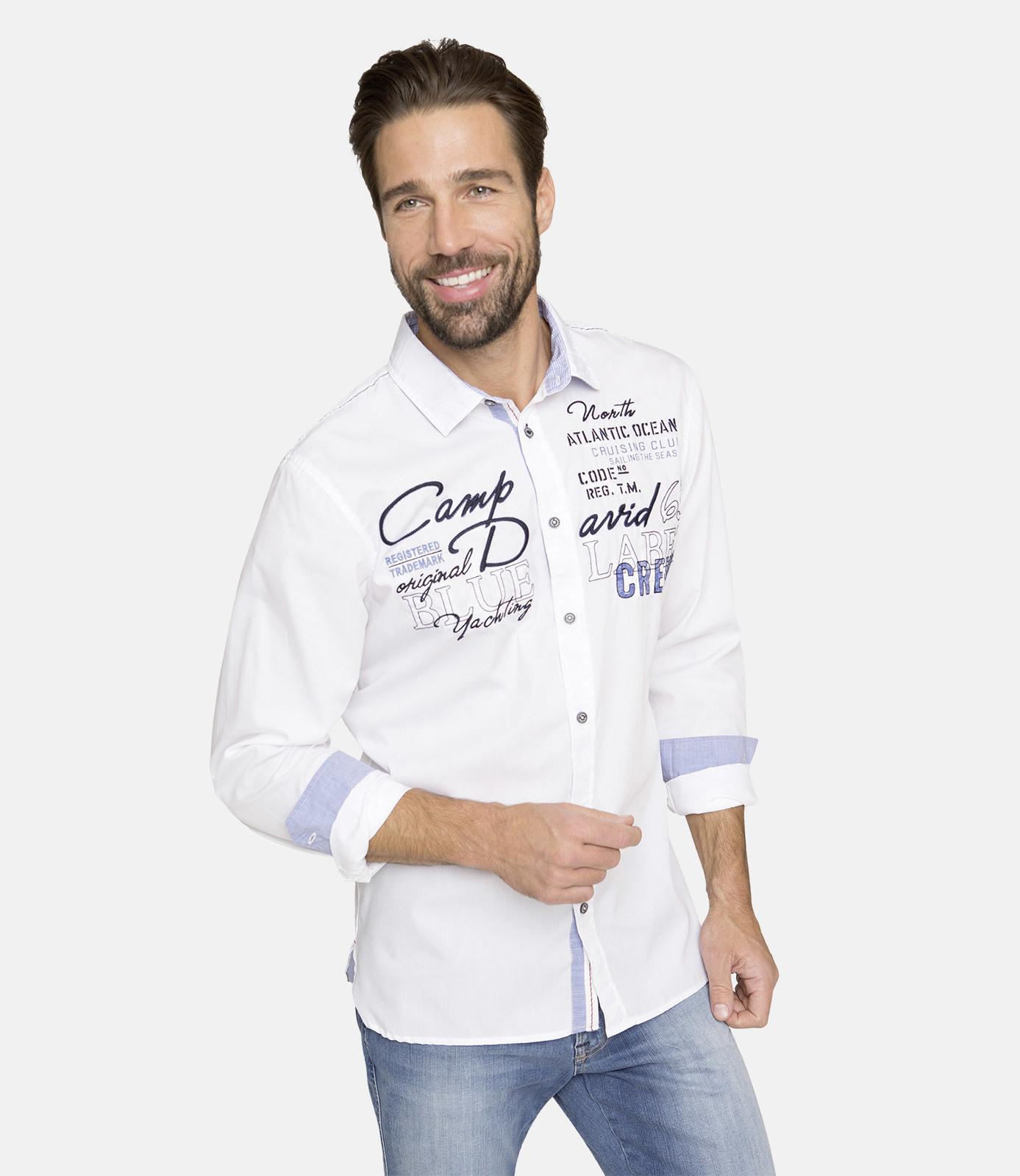 Langarmhemd mit Artwork, Regular Fit