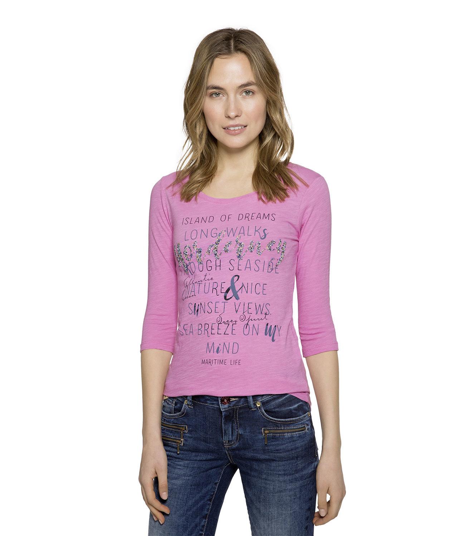 Shirt mit 3/4-Ärmeln und Artwork