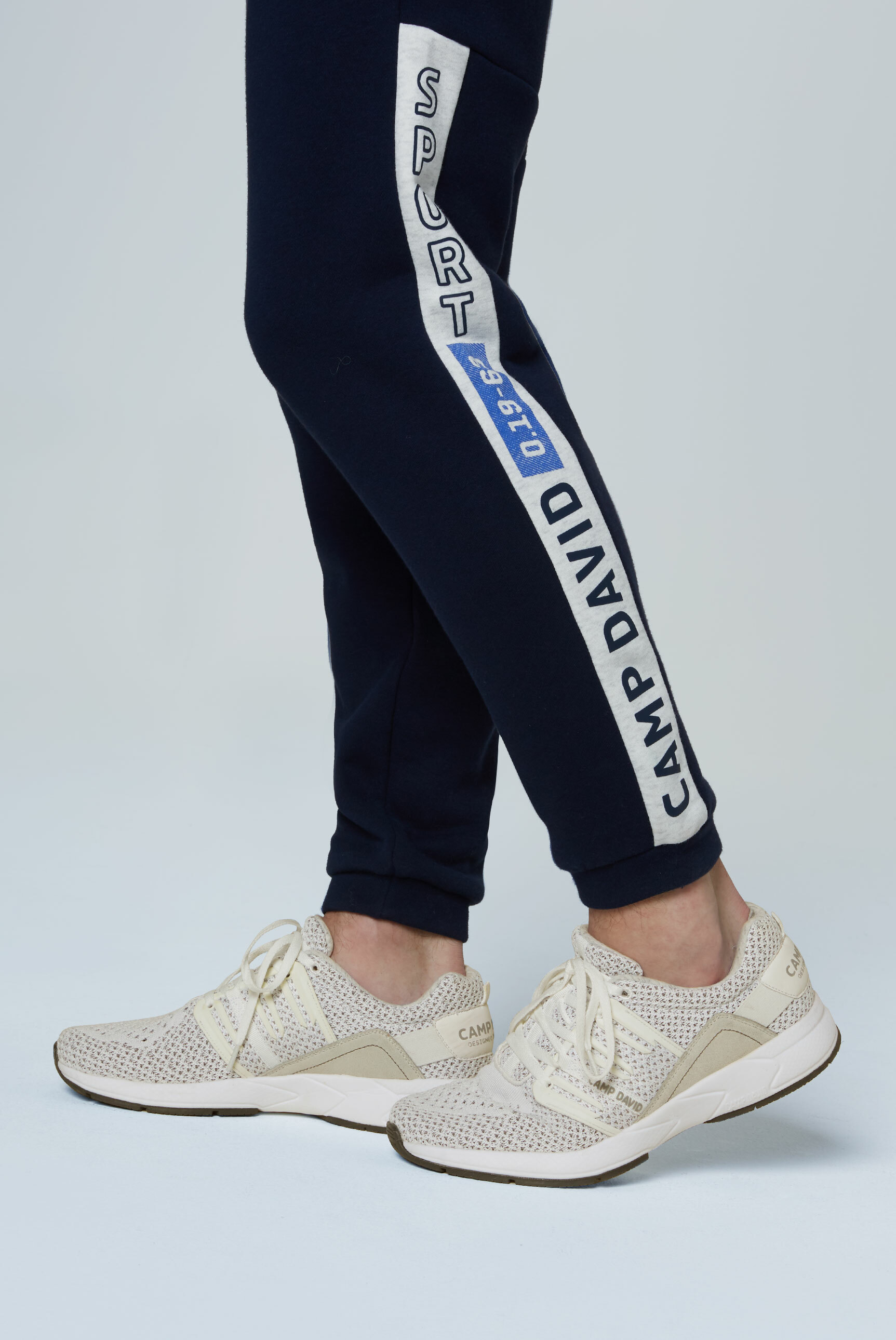 Sneaker mit Strick-Struktur und Power-Sohle