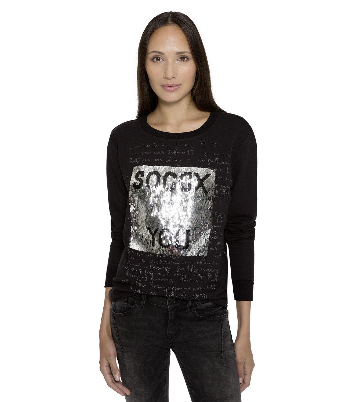 Sweatshirt mit Artwork aus Wendepailletten