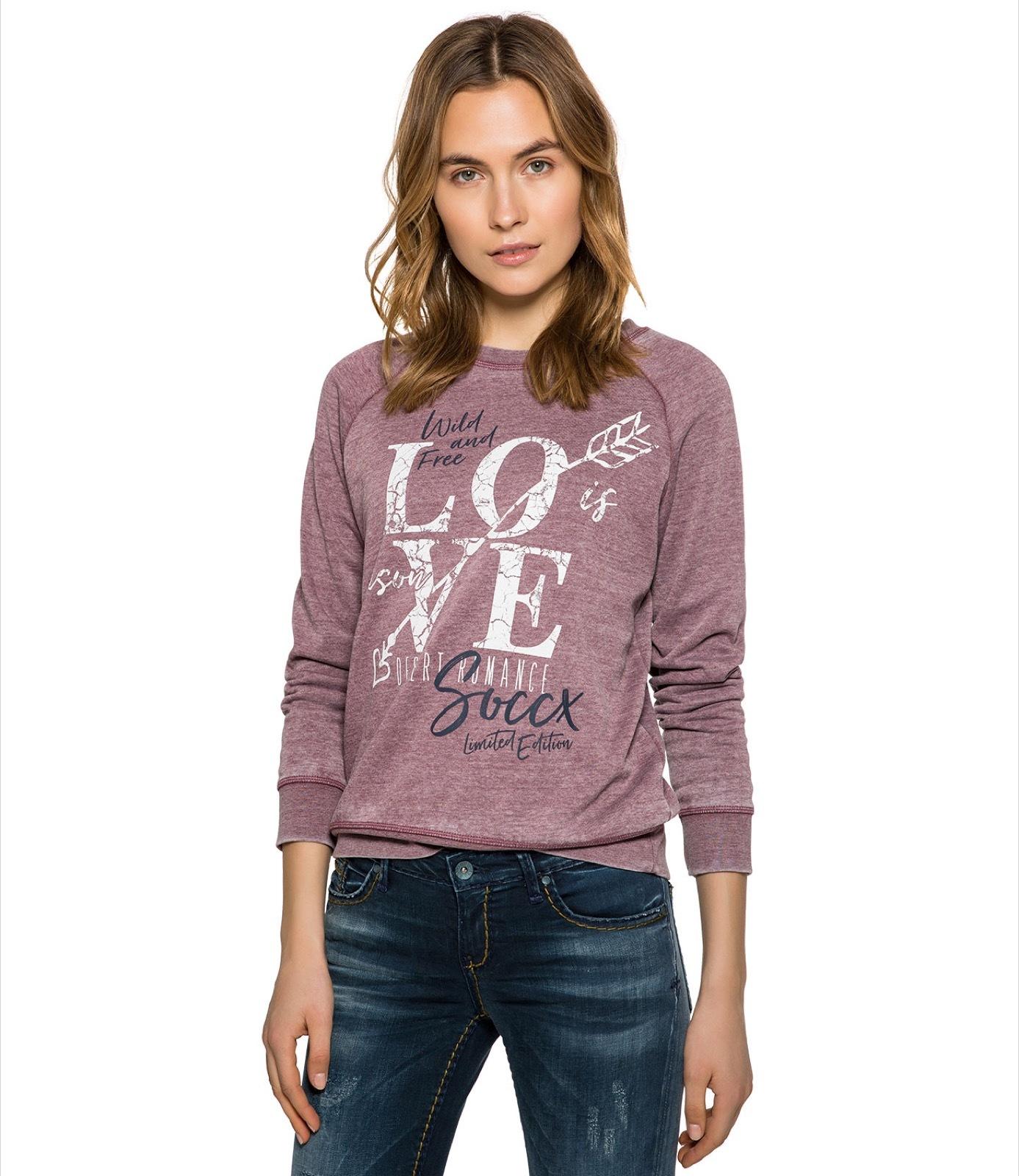 Sweatshirt mit Ausbrenner-Effekten und Artwork