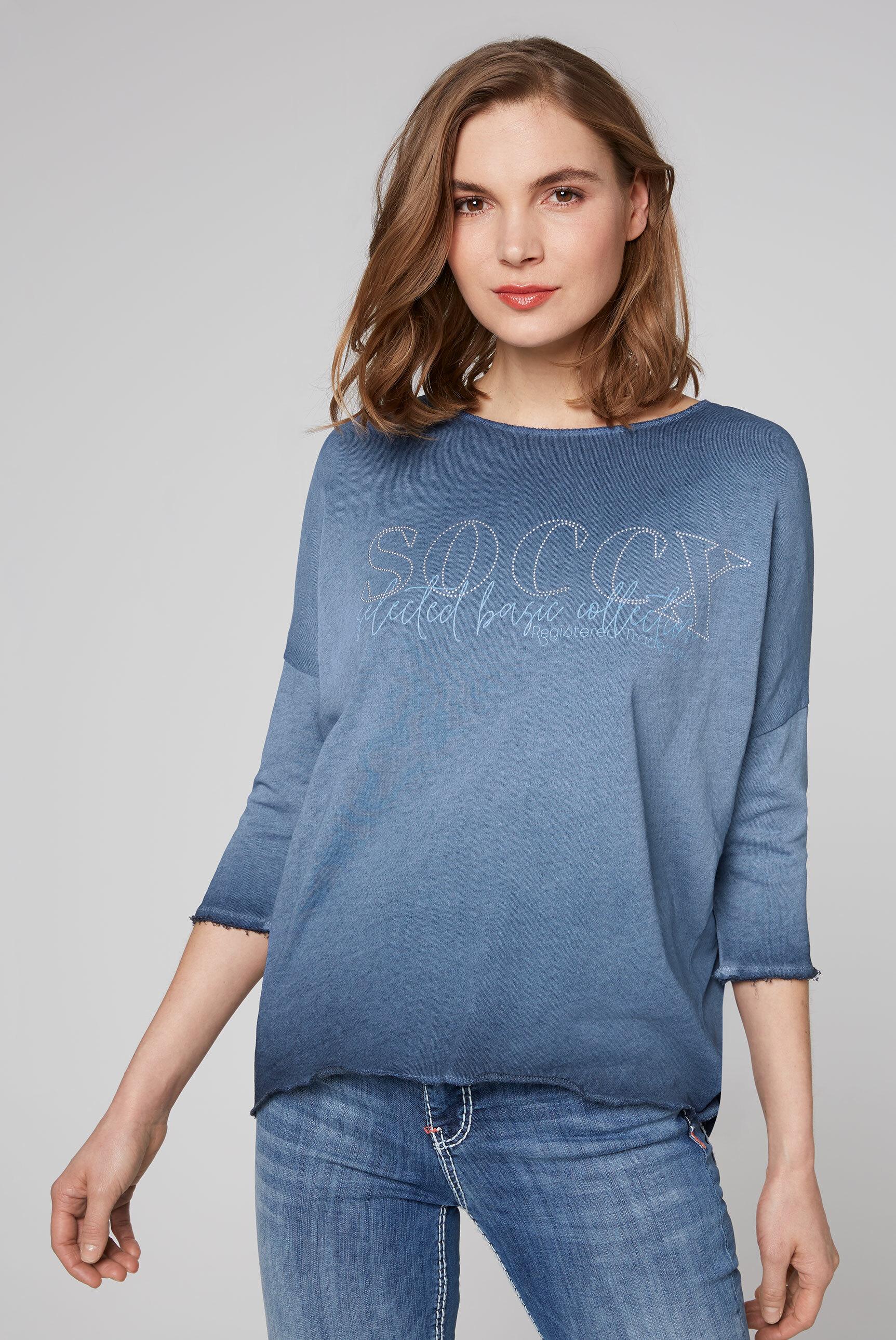 Sweatshirt mit Logo und 3/4-Ärmeln