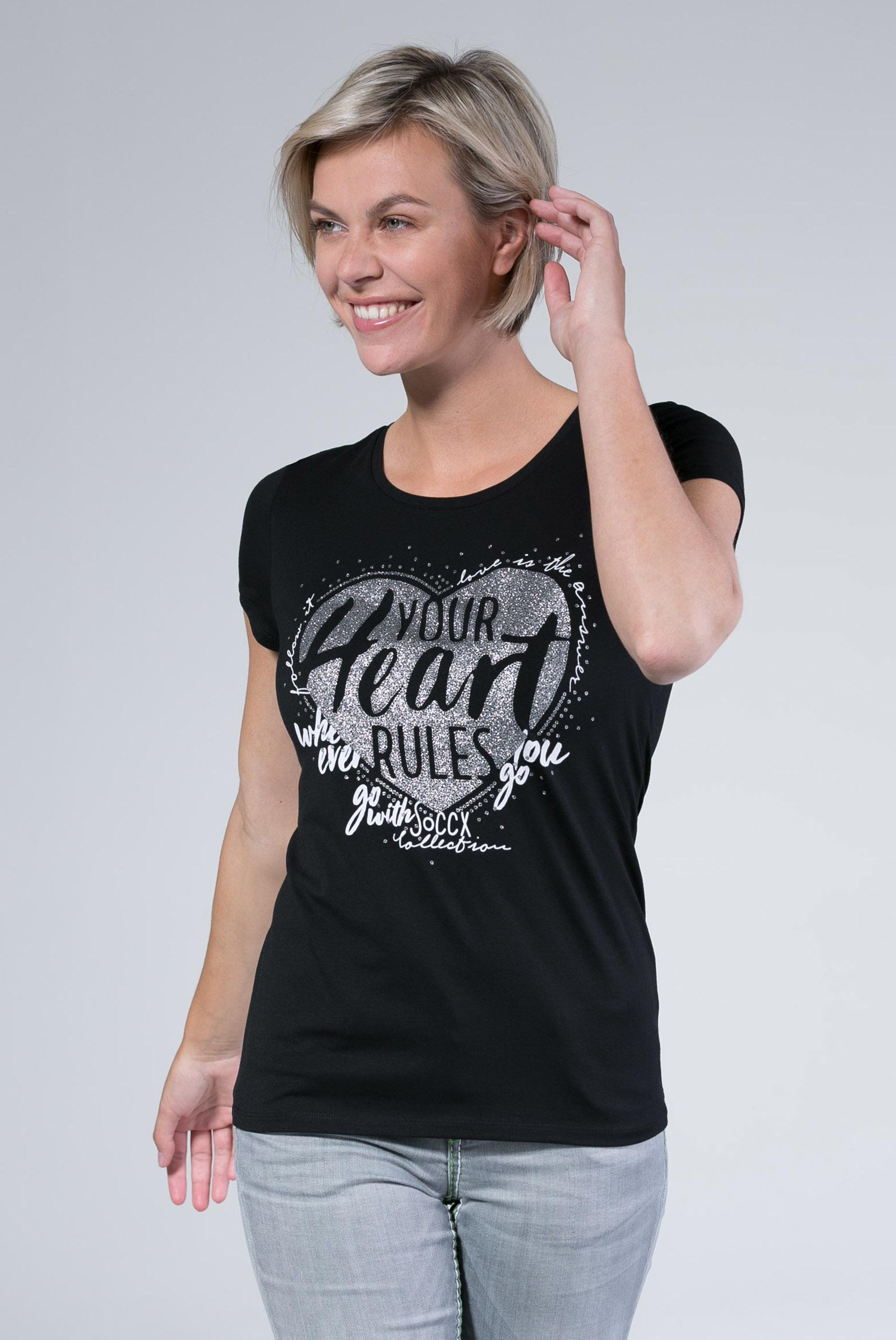 T-Shirt mit Glitzer-Artwork